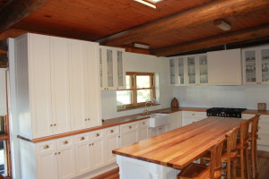 Recycled Hardwood Benchtops and Cabinets by Mannagum